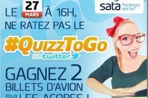 Le 27 Mars rendez vous pour le #QuizzToGO avec Sata !