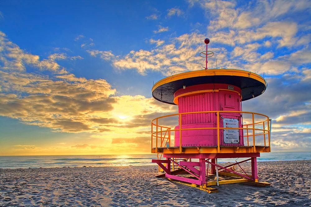 La plage de South Beach à Miami