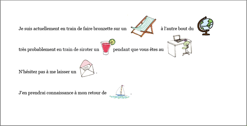 Illustration de message d'absence automatique