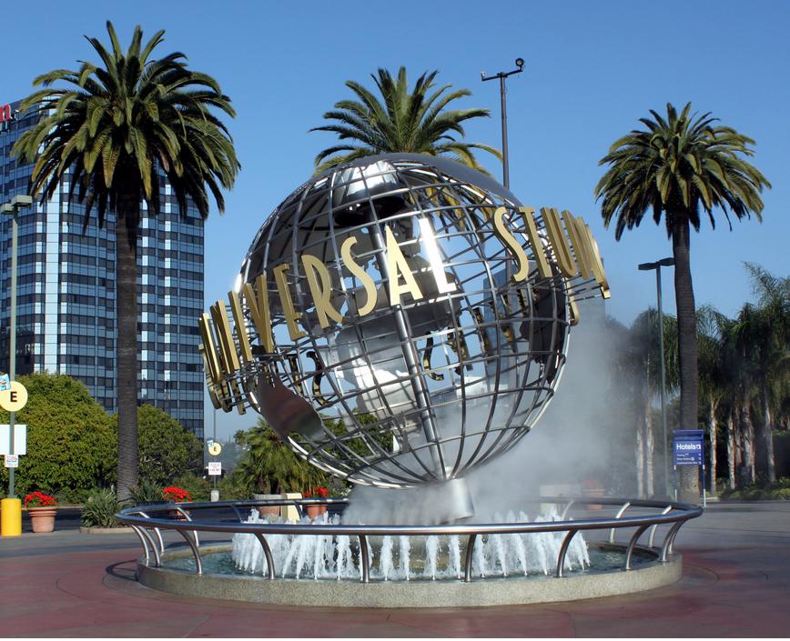 Le globe d'Universal Studios Hollywood