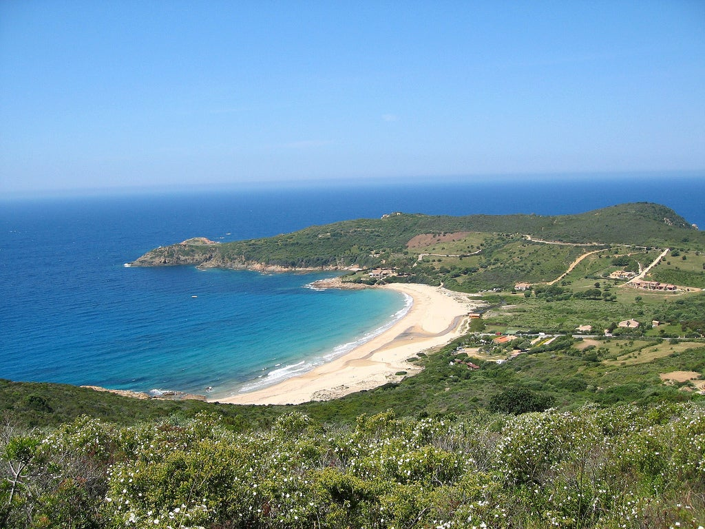 Plage d'Arone en Corse