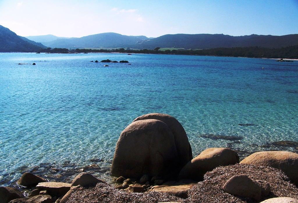 Plage de Santa Giulia en Corse