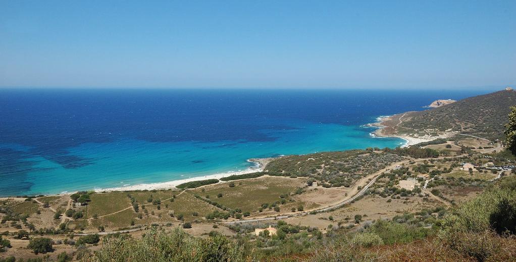 Plage de Bodri en Corse