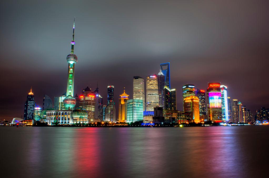 Le bund à Shanghai