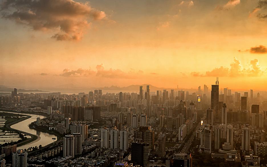 La skyline de Shenzhen