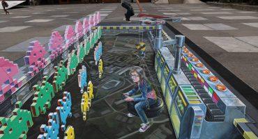 Leon Keer et le Street Painting