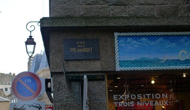 Rue de la pie qui boit Saint Malo