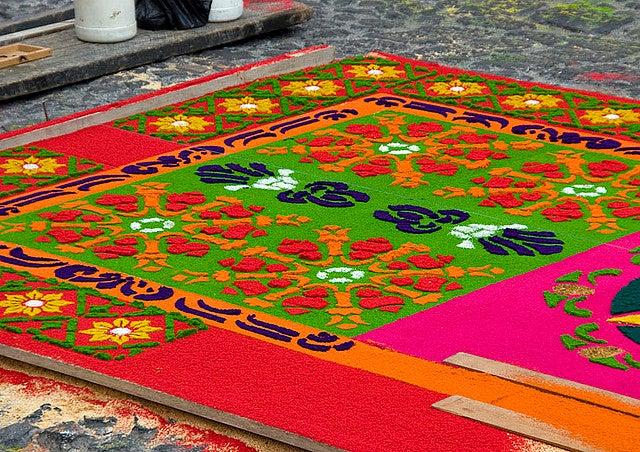 Tapis Guatemala Pâques - blog go voyages