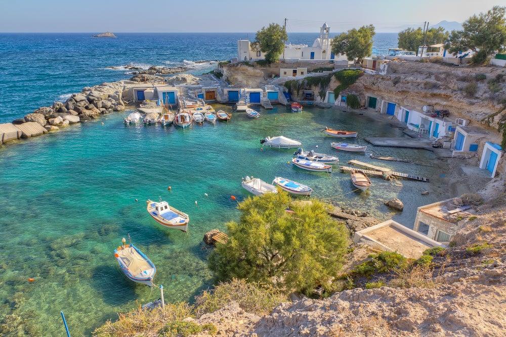 milos baie bateaux - blog GO Voyages
