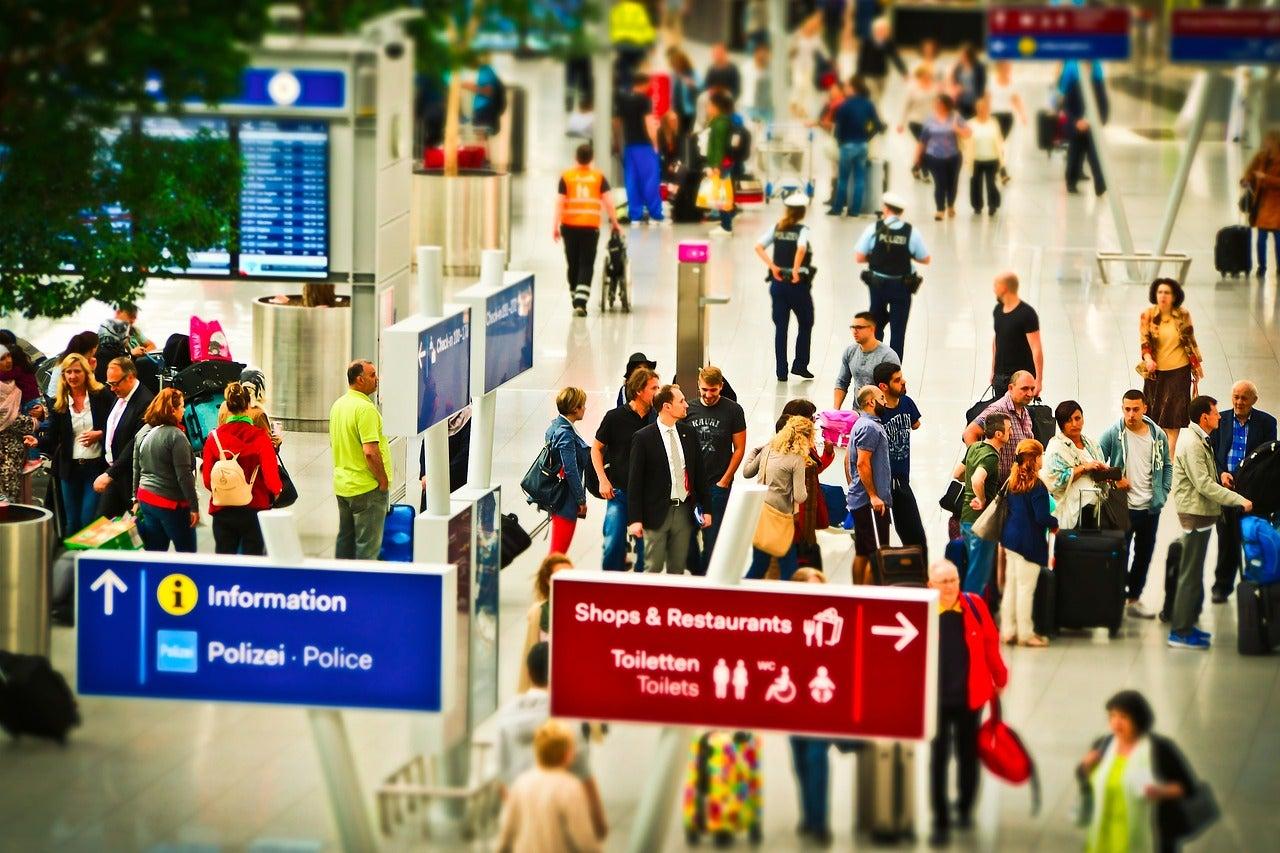 Enregistrement à l'aéroport