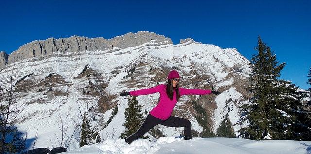 yoga ski morzine