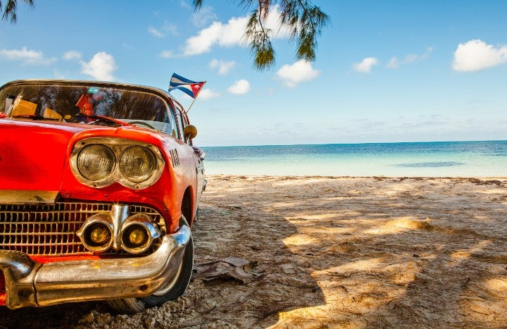 voiture plage cuba - blog GO Voyages