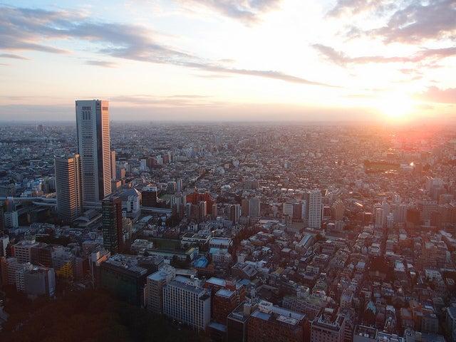 coucher du soleil shinjuku tokyo - blog GO Voyages