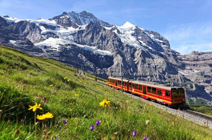 montagne train suisse - blog go voyages