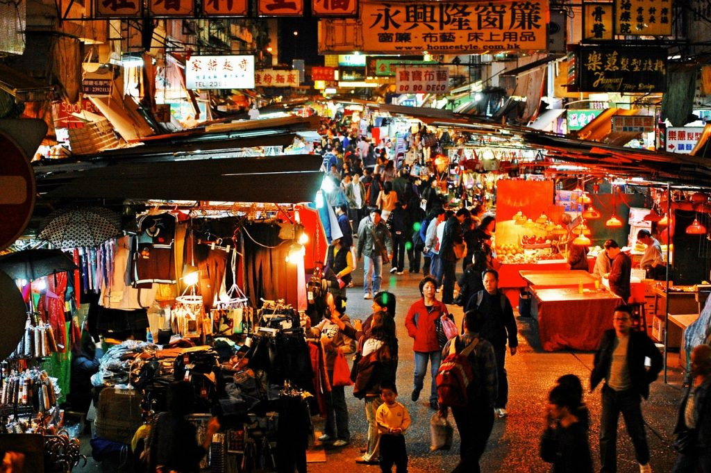Temple market Hong Kong - blog GO Voyages