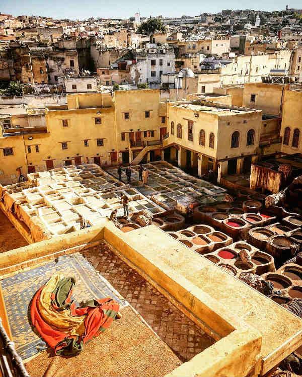 bassins tanneurs cuir medina - blog go voyages