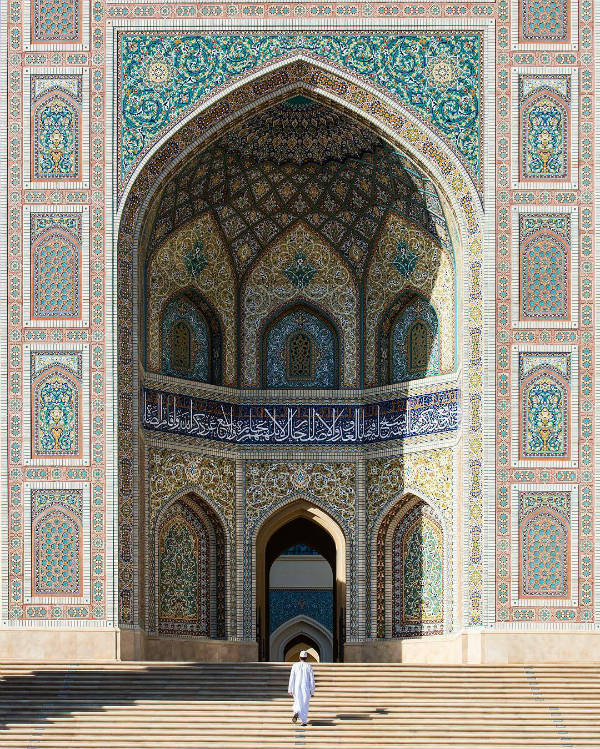 mosaiques façade mosquee - blog go voyages