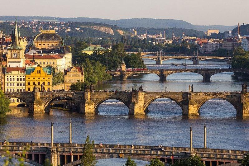 Vue de Prague depuis le parc Letná