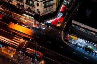 vue de haut rue bangkok - blog go voyages