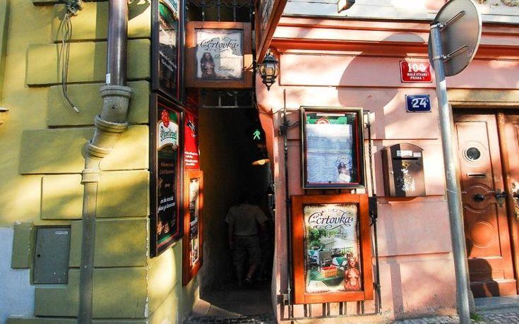 Vinarna Certovka prague go voyages