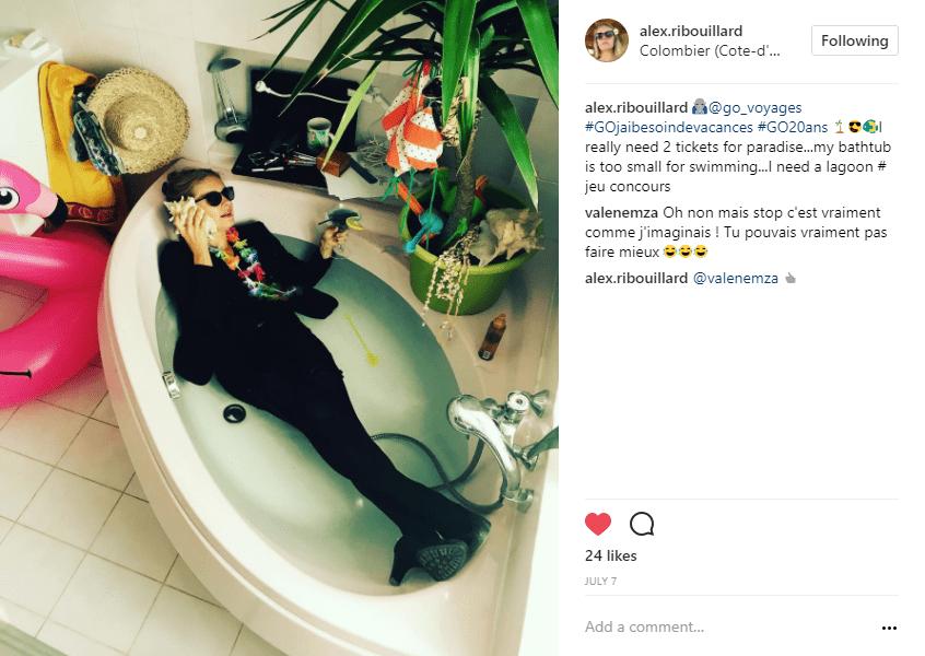 baignoire sirene instagram - blog go voyages