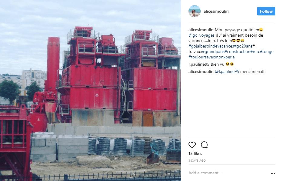 travaux machines rouge instagram - blog go voyages