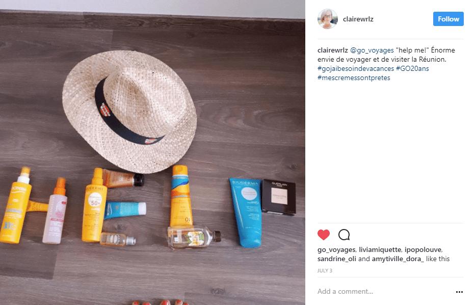 chapeau creme solaire - blog go voyages