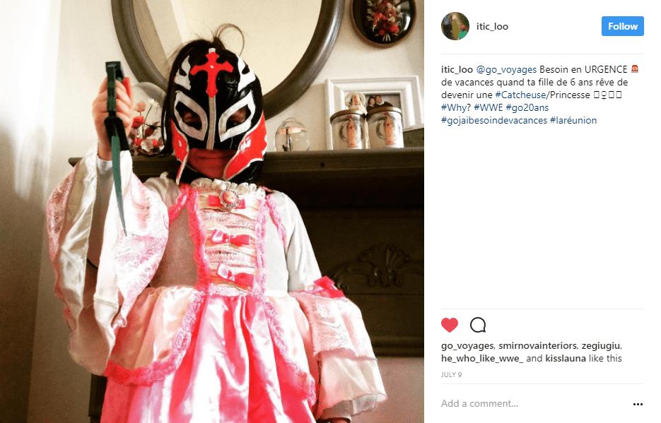 enfant deguisement masque catcheur instagram - blog go voyages