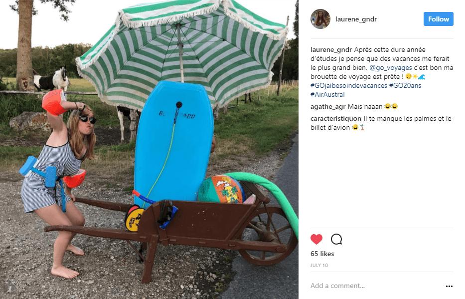 brouette parasol bouee vache - blog go voyages