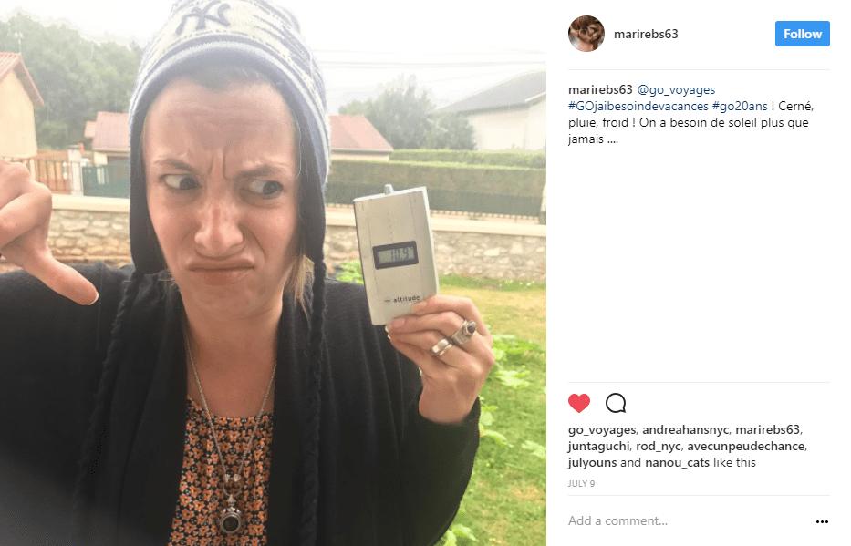 femme pouce en bas thermometre - blog go voyages