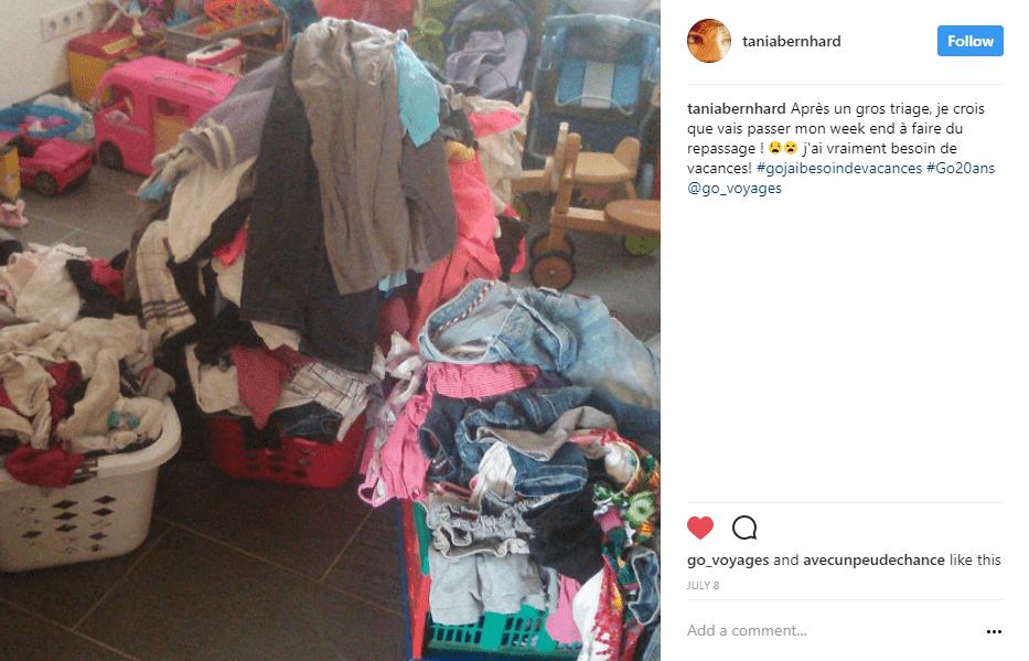 pile vêtements instagram - blog go voyages
