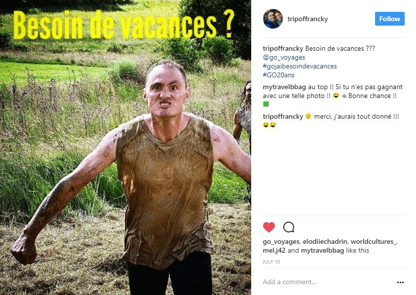 homme boue champs instagram - blog go voyages