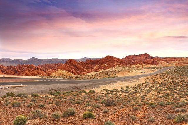 paysage roche rouge las vegas - blog go voyages