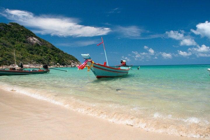plage bateau thailande koh phangan - blog go voyages