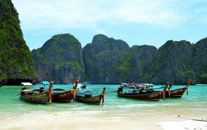 bateau plage thailande koh phi phi - blog go voyages