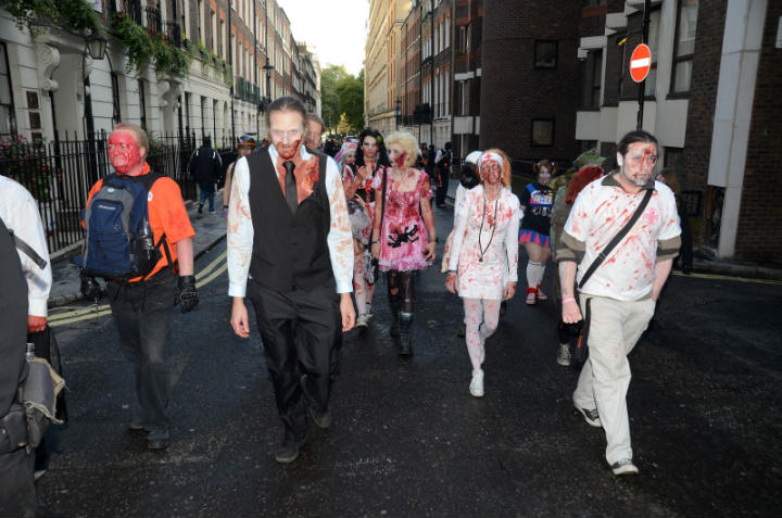 zombie parade londres - blog go voyages