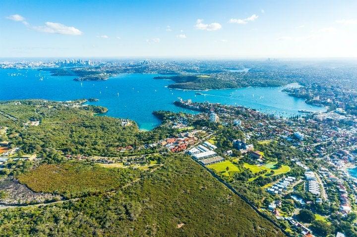 vue arienne baie de sydney - blog go voyages