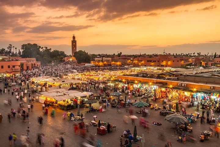 Plaçe-Jemaa-El-Fna-em-Marrakech GO Voyages