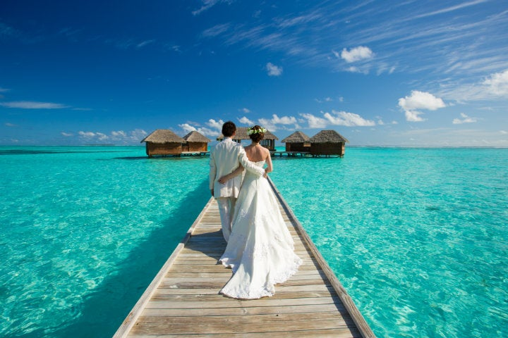 couple mariage maldives - blog go voyages