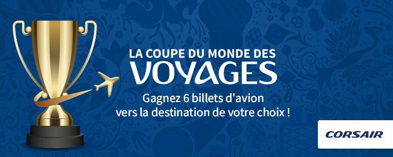 jeu concours coupe du monde corsair - blog GO Voyages