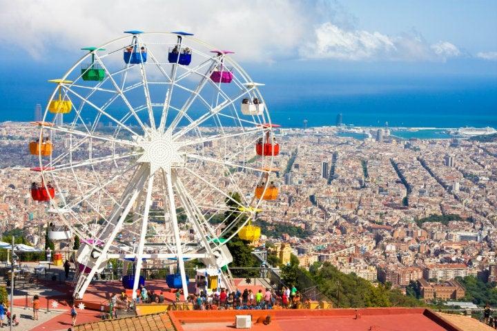 tibidabo grande roue barcelone - blog GO Voyages