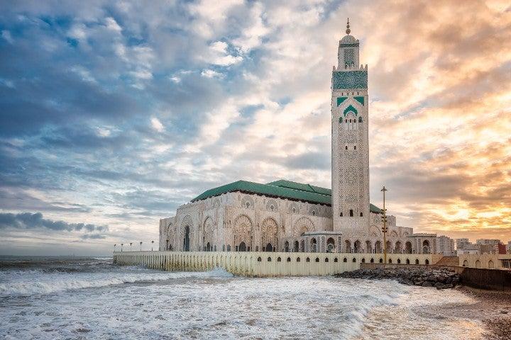 mosquee casablanca maroc afrique - blog go voyages