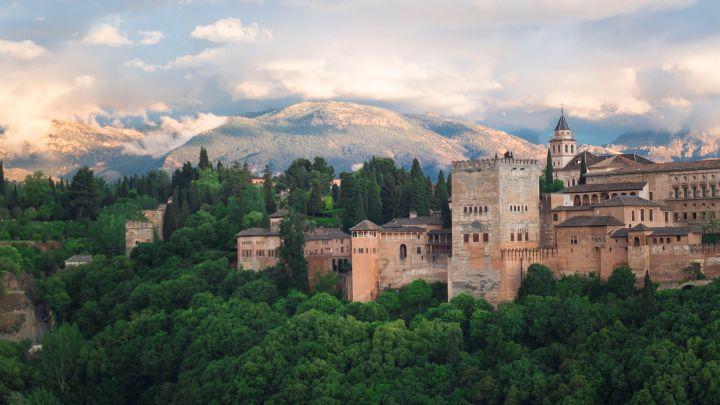 vue alhambra depuis mirador san nicolas | monument grenade andalousie