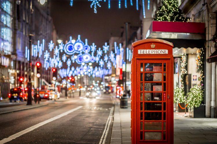Noël à Londres, Royaume-Uni
